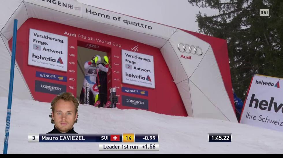 Supercombinata di Wengen, lo slalom di Mauro Caviezel (12.01.2018)