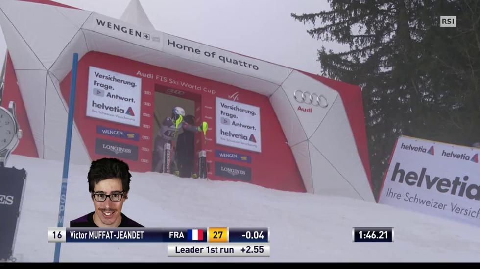 Supercombinata di Wengen, lo slalom di Victor Muffat-Jeandet (12.01.2018)