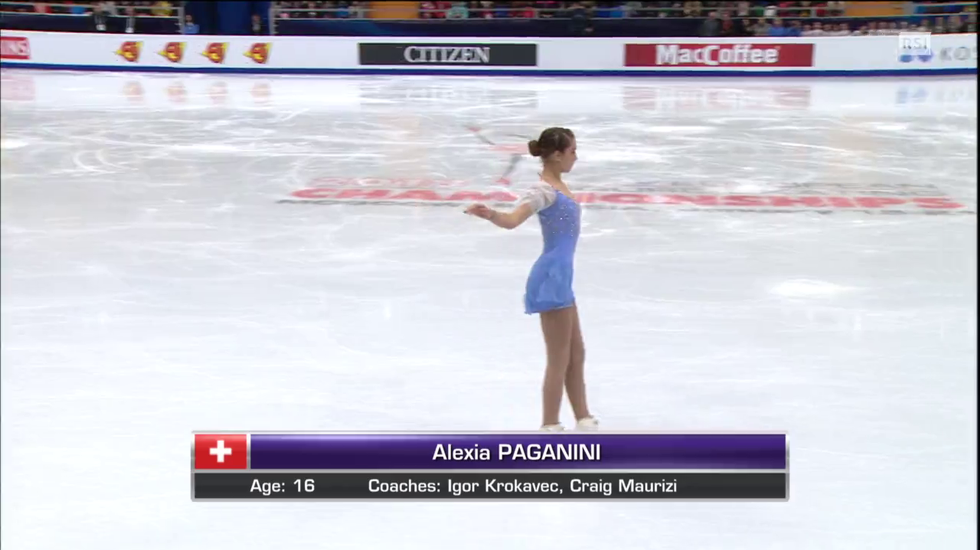 Europei di pattinaggio, il programma corto di Alexia Paganini (18.01.2018)