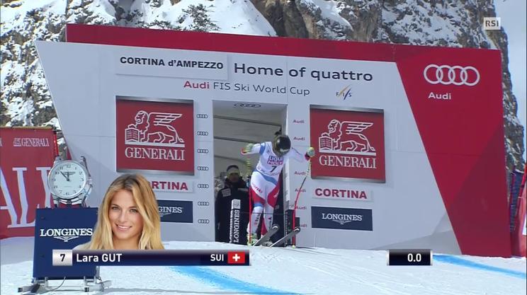 Super G di Cortina, la gara di Lara Gut