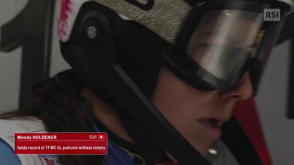 Slalom femminile di Flachau, la prima manche di Wendy Holdener (08.01.2019)
