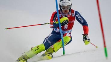 Dave Ryding davanti nello slalom di Levi