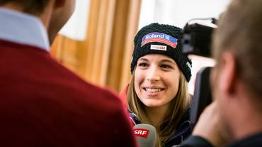 Le elvetiche con entusiasmo in Val d'Isère