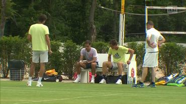 Stoccarda, l'allenamento di Roger Federer (11.06.2018)