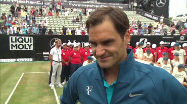 ATP Stoccarda, l'intervista a Roger Federer (17.06.2018)