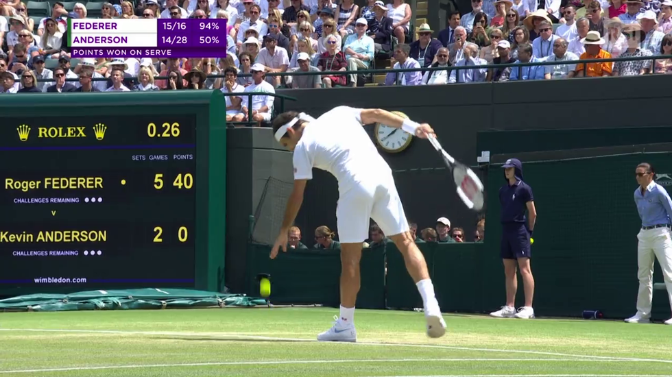 Wimbledon, le highlights di Federer - Anderson (11.07.2018)