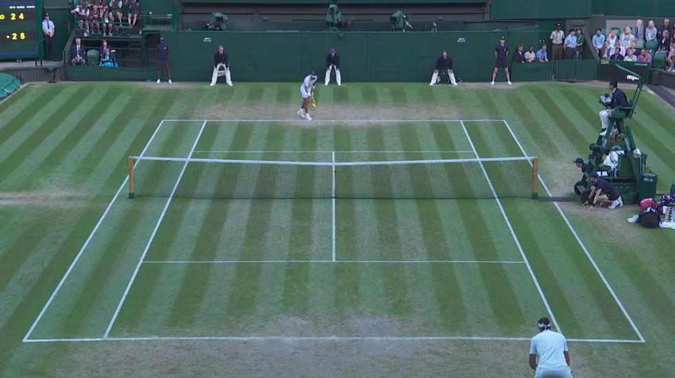 Wimbledon, l'ultimo gioco di Nadal - Del Potro (11.07.2018)