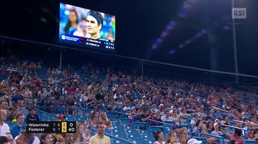 ATP Cincinnati, il match point di Federer - Wawrinka (18.08.2018)