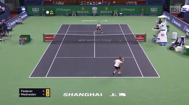 Masters 1000 di Shanghai, le highlights di Federer - Medvedev (10.10.2018)