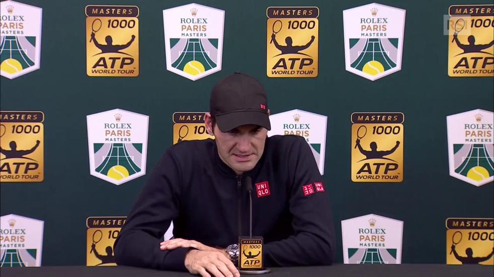 Masters 1000 Parigi-Bercy, l'intervista a Roger Federer (Telegiornale 04.11.2018)