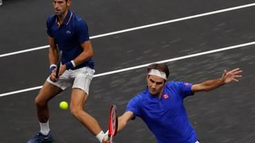 Nulla da fare per Federer e Djokovic in doppio