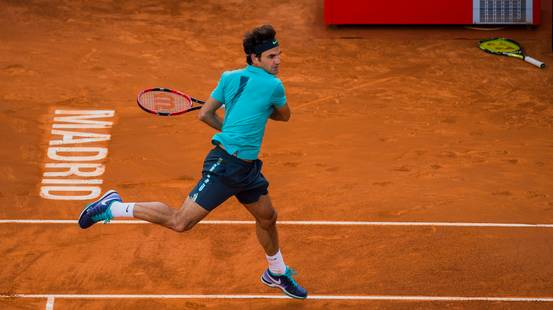 Federer in campo a Madrid