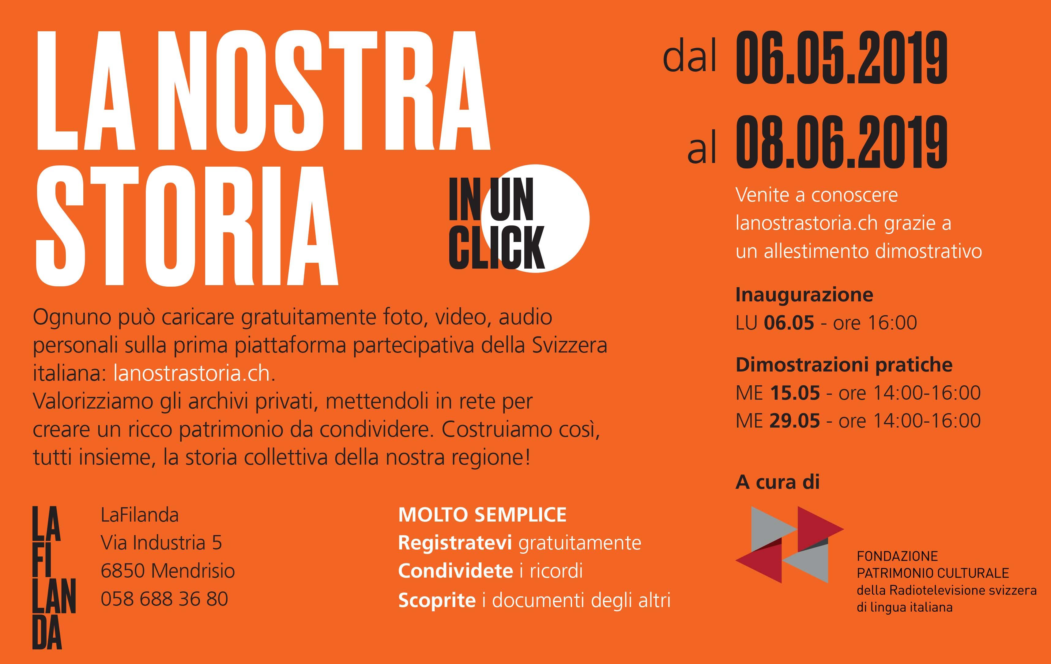 «lanostraStoria.ch» alla Filanda di Mendrisio