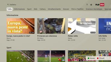 L'offerta video On demand del Play RSI