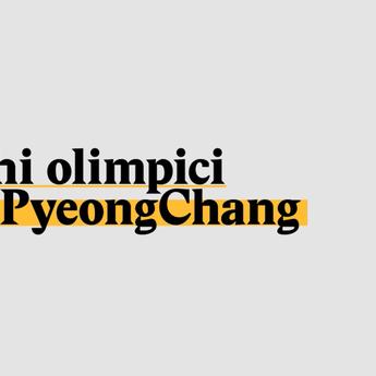 Giochi olimpici di PyeongChang